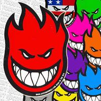 SPITFIRE WHEELS Skateboard Sticker - Flaming Head Logo - Assorted colour & logos