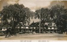 New London NH * Twin Lake Village  RPPC ca. 1940s * Sullivan Co.