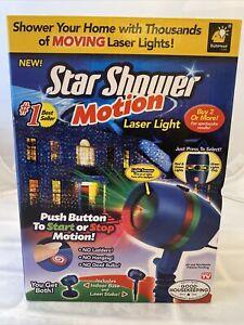 Star Shower Motion Laser Light Projector Holiday Christmas Lights