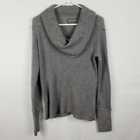 Michael Stars Womens Sweater Size M/L Gray Pullover Cowl Neck Knit 100% Cotton