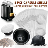 Reusable Refill Coffee Machine Espresso Capsule Pods Shell For Nespresso Vertuo