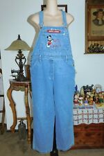 MICKY MOUSE WOMENS BLUE CARPENTER OVERALLS--SMALL- MEAS 34X28-      #O19