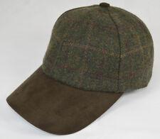 Wool & Suede Baseball Cap Hat Strapback Adjustable Size High Quality Wool Tweed