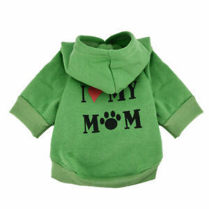 Yorkshire Terrier Dog Clothes Pet Hoodie Sweater I LOVE MY MOMMY for Chihuahua