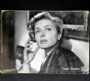 ingrid bergman cartolina viaggiata postcard vintage anni 60 american actress f v