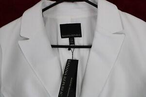 NEW Banana Republic Womens White Stretch Linen Suit Jacket NWT $200 Petite Sz12p