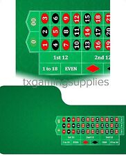 Pro Green Casino Roulette Digital Table Layout Felt Water & Stain Resistant