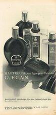 J- Publicité Advertising 1967 Eau de Cologne After shave Habit Rouge de Guerlain