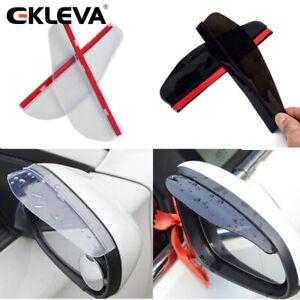 EKLEVA 2X Car Side Rear View Mirror Sun Visors Rain Water Guard Protector Shield