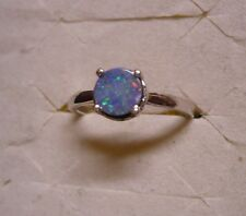 DAILY DEALS~~ Fiery Boulder Opal Solitaire Ring Sz.9  1gem .65tcw MSRP$299