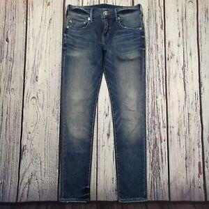 Men's True Religion Jeans 29 Waist 31 Leg Rocco Skinny Fit Blue Stretch, Vintage
