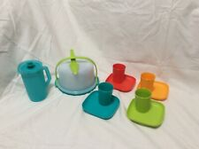 NEW Tupperware Kids 11 pc. Party Set Summer Colors