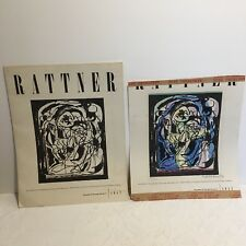 Vtg 1952 Abraham Rattner Hand Colored Numbered Signed Gallery Show Catalogue Ad