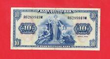 10 Deutsche Mark, von 1949, Nr. R6289949M, Original Banknote in *VF-* Erhaltung!