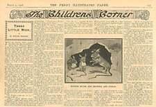 "1908 Children's Story ""Three Little Mice"" By Nellie Pollock"