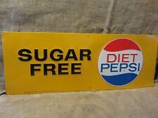 Vintage 1964 Stout Embossed Diet Pepsi Sign > Antique Pepsi-Cola Soda RARE 9562