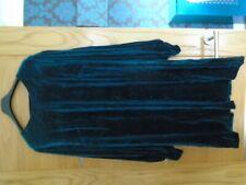 NEW next size 20 glittery teal colour dress...velvet look...rp £48