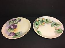 "2 Rosenthal & Co Versailles Bavaria Porcelain Plates 8""~Gooseberries & Plums"