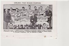 Team Pic from 1955-56 FOOTBALL Annual - CHELSEA + SPAIN v ENGLAND
