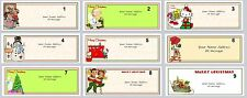 30 Personalized Return Address Labels Christmas Buy 3 get 1 free (cx1)