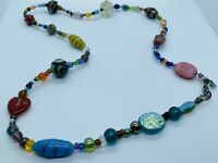 Vintage 40s-50s Murano Art Glass Bead Strand Necklace