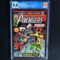 AVENGERS #125 (1974) 💥 CGC 9.4 💥 CLASSIC THANOS COVER by JOHN ROMITA!