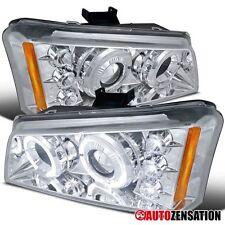 03-06 Chevy Silverado Avalanche Chrome LED Halo Projector Headlights