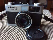 Minolta Hi-Matic G 35mm Point & Shoot Camera  W/Lens Cap 38MM Lens Untested