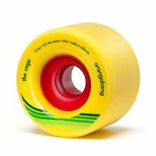 Orangatang Cage 73 mm 86a Freeride Longboard Skateboard Wheels Yellow Set of 4