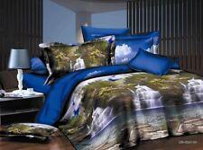 3d Mountain Fall Duvet Cover bedding 4pcs set sheet pillow cases queen AJ1