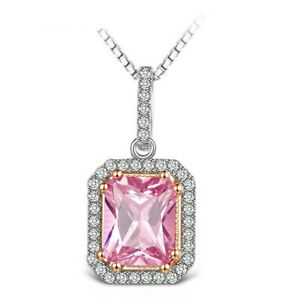 Necklace 925 Sterling Silver Pink Sapphire Gemstone, Beautiful Jewelry