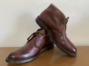 Church's Made in England Ayr Shoes Boots UK 7.5 F - Brown Leather Upper & Sole