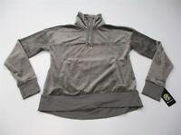 CHAMPION C9 Sweatshirt Women's Size XS Quarter Zip Neck Gray Velour Pullover