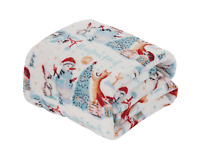 Ultra Cozy & Soft Christmas Holiday Christmas Forest Plush Warm Throw Blanket