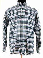 Ralph Lauren Polo Mens Button Down Long Sleeve Plaid Check Shirt Size Medium