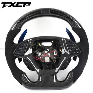 LED Performance Steering Wheel For Chevrolet Camaro Corvette Cruze/Carbon Fiber