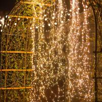 200 LED Lichterkette Draht biegsam warmweiß Lichterbündel Micro Leuchtdraht Deko