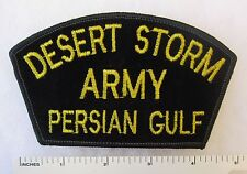 US ARMY DESERT STORM PERSIAN GULF PATCH for CAP / HAT Yellow on Black