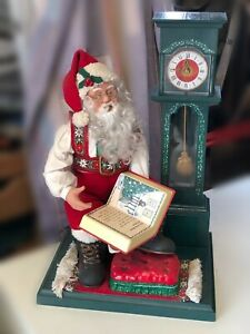 Père noël animé son musique décoration de Noël fêtes Holiday Creations 1995