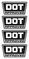 DOT Approved Motorcycle Helmet Stickers Vinyl Decals D.O.T. Labels 4 pack