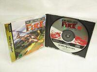BLACK FIRE Item ref/C Sega Saturn Import Japan Game ss