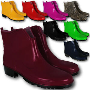 Gummistiefel Damen Stiefel Schuhe Halbstiefel Regenstiefel Damenstiefel Gr.36-43