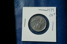 A-217 1979 Canada 25 Cents quarter Queen Elizabeth II