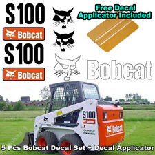 Bobcat S100 Skid Steer Set Vinyl Decal Sticker 5 PC SET + FREE DECAL APPLICATOR