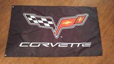 CORVETTE C6 STYLE FLAG BANNER 3X5FT GARAGE MANCAVE CHEVROLET Z06