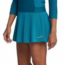 WOMENS NIKE COURT ZONAL COOLING TENNIS SKIRT SIZE L (888190 430) PETROL BLUE