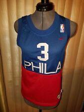 Vtg RETRO 1966 PHILADELPHIA SIXERS 76ERS ALLEN IVERSON#3 NBA JERSEY Youth S,Nike
