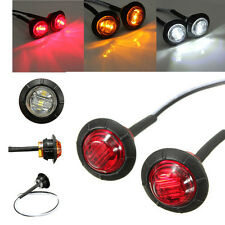 4 LED Front Side Round Marker Light Truck Car Lorry Trailer Indicator 3 Colour