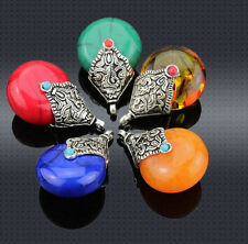 wholesale 5/20/50pcs Imitation wax Tibetan silver drip charms pendant 22.5x35mm