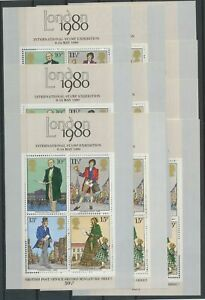 [P658] Great-Britain 1980 good sheets very fine MNH (10x)
